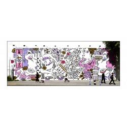 Lady Aiko - Houston Bowery wall - NY 2012