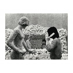 Yayoi Kusama - kusama with macaroni girl dressing table...