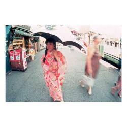 Yayoi Kusama - Walking Piece - NYC 1966 photo by Eikoh Hosoe