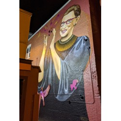 Ruth Bader Ginsburg - mural painted by Rose Jaffe on U Street in DC - Washington - 2019