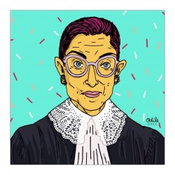 Ruth Bader Ginsburg - painted by Odile BREE