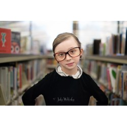 Ruth Bader Ginsburg - young girl with RGB attitude