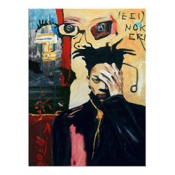 Bernard Bieling - SAMO - Same Old Shit - Portrait Jean Michel Basquiat_pa_stre