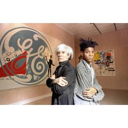 Jean Michel Basquiat - with Andy Warhol - sep 1985