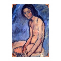 Amedeo Modigliani - Seated Nude - 1909