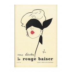 Rene Gruau - affiche Le rouge baiser par Paul Baudecroux...