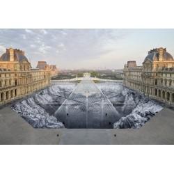 JR - Le secret de la grande pyramide - Musee du Louvre -...