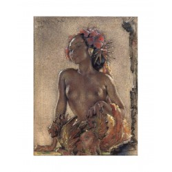 Willem Gerard Hofker - portrait - Bali 1945_pa_clas_nude