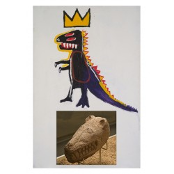 JEAN MICHEL BASQUIAT - Gobekli Tepe - sculpture 10th millenni_dium before JC_pa