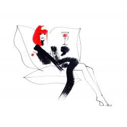 Lovisa Burfitt - La rousse et boisson rouge