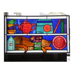 Tim Cunliffe - Stained glass commission for Cedar House...
