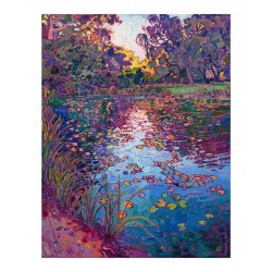 Erin Hanson - Lilies Reflection