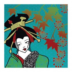 Erika Falke - Oiran with maple leaves
