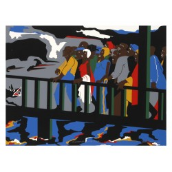 Jacob Lawrence - Confrontation at the Bridge_pa