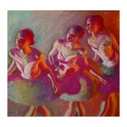 John Asaro -  Dancers Green Rose