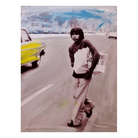 Luca Parmeggiani - Lo strillone_pa_urba_saatchiart.com+lucaparme