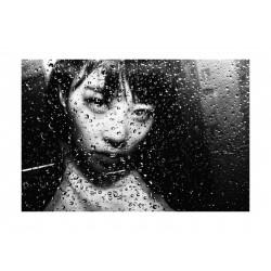 Tatsuo Suzuki - Through the vinyl umbrella - Shibuya Tokyo 2017_ph_bw