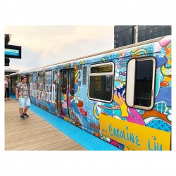 Caroline Liu - Chicago CTA train - collaboration with Goose Island Brewery_pa
