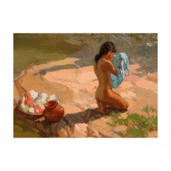 Fernando Amorsolo - Bather by the Water_pa
