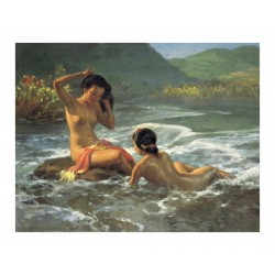 Fernando Amorsolo -  Bathing girls 1935