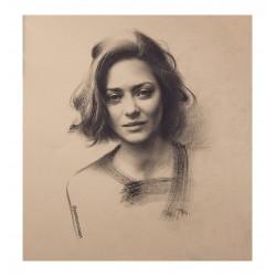 Pankov Roman - Marion Cotillard portrait 2_di_bw_
