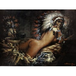 Ramon Rice - Nude Indian Maiden