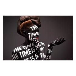 Stefan Sagmeister - body paint Nastya Durasova -