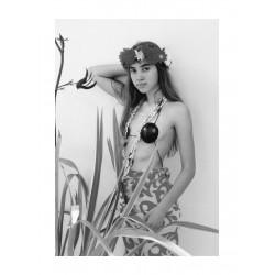 Claude Nori - A italian girl wearing a tahitien costum -...