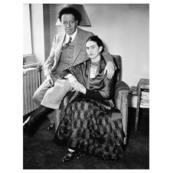 Frida Kahlo - with her husband Diego Rivera - Mexico City...