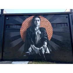 JEKS - mural inspired from La pistola de Frida Khalo