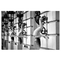 Acey Harper - Acrobats serie 2_ph_bw_nude
