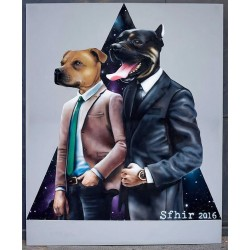 Hugo Lomas aka Sfhir - Bat and Beltz portrait - 2017