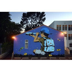 Bumblebee - The Right Direction - mural West Hollywood CA...