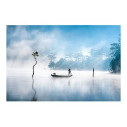 Luong Nguyen Anh Trung -  Pescador solitario en el lago...