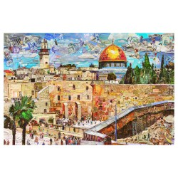 Vik Muniz - Jerusalem_au_land