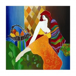 Itzchak Tarkay - Merchant Girl_pa_worthingtongalleries.com+itzchak-tarkay