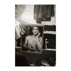 Diane Arbus - Tattooed female impersonator applying make up- NYC_ph_anti_bw_vint