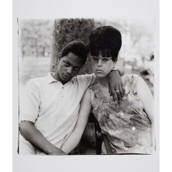 Diane Arbus - Young man and his pregnant wife in...