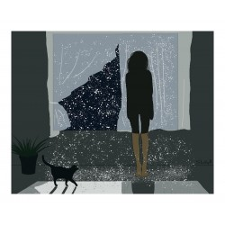 Shaza Wajjokh  - Let it snow inside this little room near...