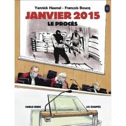 Charlie hebdo - JANVIER 2015 - LE PROCES - author Yannick Haenel - designer Francois Boucq_au_halldulivre.com+livre+978235766177